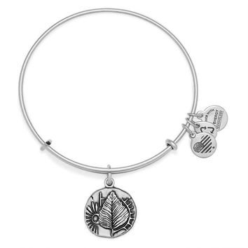 Alex and Ani Birch Charm Bangle - Rafaelian Silver Finish