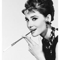 Free Shipping  - Audrey Hepburn Breakfast at  Tiffany's - Vintage Celebrity Posters Print