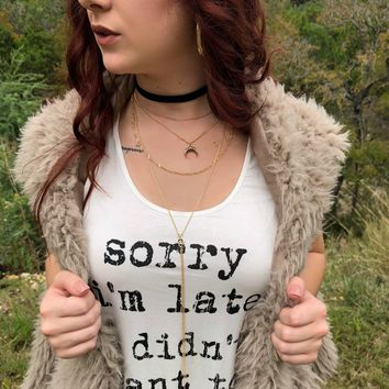 Gypsy Chained Choker Necklace