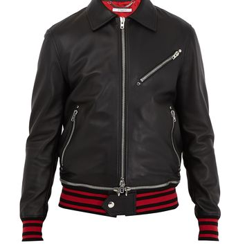 Point-collar leather jacket | Givenchy | MATCHESFASHION.COM UK