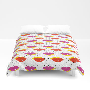 Lots of Kisses Duvet Cover by anertek