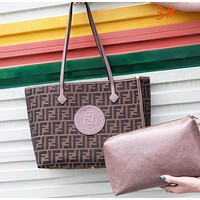 Fendi High quality new fashion more letter shopping shoulder bag handbag two piece suit bag women