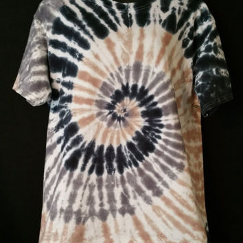 Hand Dyed  Spiral Tie Dye Shirt | Hanes -OR- Gildan | Youth -OR- Adult