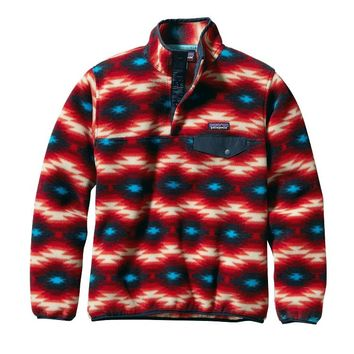 Patagonia Women's Lightweight Synchilla® Snap-T® Pullover   Wild Desert: Classic Red