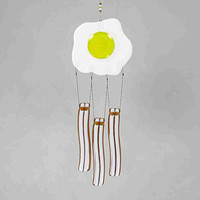 Glass Bacon and Egg Wind Chime, Breakfast Windchime