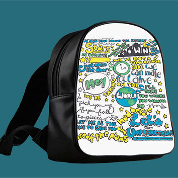 5SOS Unpredictable Lyric for Backpack / Custom Bag / School Bag / Children Bag / Custom School Bag *