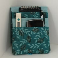 Medical Pocket Organizer - Nurse Scrubs Pocket Case - Two Sizes to choose from - Green and Brown Leaves