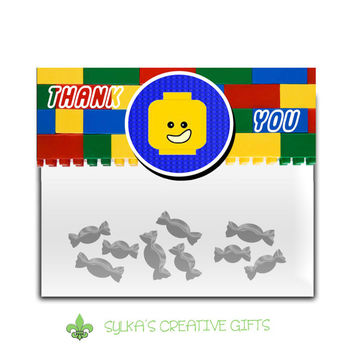 Gift Bag Toppers-DIY-Custom-Personalized-Lego