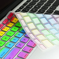 "Topcase New Design Silicone Keyboard Cover Skin for Macbook 13"" Unibody / Macbook Pro 13"" 15"" 17"" with or Without Retina Display / Wireless Keyboard + Topcase Mouse Pad (Rainbow, Rainbow)"