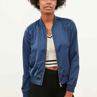 Silence + Noise Simple Satin Bomber Jacket