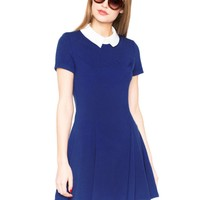 Blue Pixie Collar Dress
