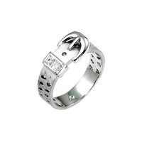 Silvertone Buckle Ring (size: 07)
