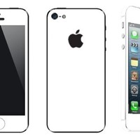 Iphone 5 White Full Body Scratch Protection & Color Change Vinyl Set