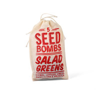 Salad Greens Seed Bombs - Edible Indoor or Outdoor Gardening
