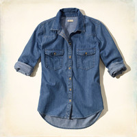 Chambray Western Denim Shirt