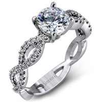 Simon G. Split Shank Twist Diamond Engagement Ring