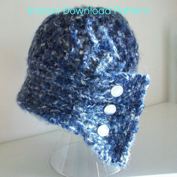 Knit Cloche Hat Pattern Madame Coco Easy Knitting