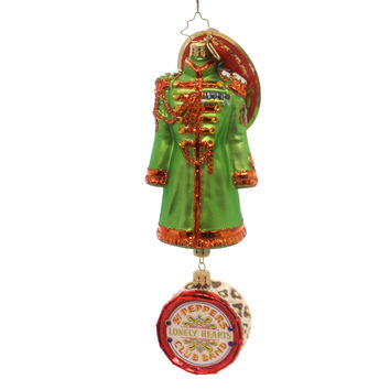 Christopher Radko John Lennon's Sgt Pepper's Coat Glass Ornament