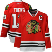 #19 Jonathan Toews Chicago Blackhawks Reebok Premier Player Jersey – Red