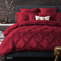 4/6 Pcs  Silk Cotton Luxury Brand Bohemia Bedding Sets King/Queen Size Wedding Bed cover Bed Sheet Comforter Cover /Pillow Sham