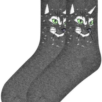 Cat Face Women's Crew Socks