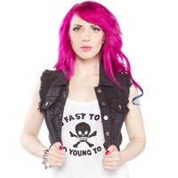 RIOT SQUAD BLACK DENIM VEST