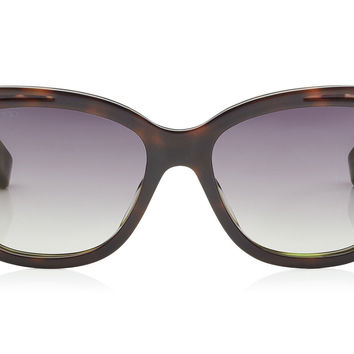 Jimmy Choo - Bebi Havana Brown and Animal Print Square Framed Sunglasses