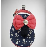 Infant Canvas Bow Anchor Flip Flop Sandals