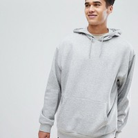 ASOS Oversized Hoodie In Grey Marl at asos.com