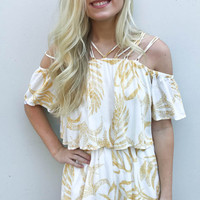 MINKPINK Paradise Strappy Playsuit