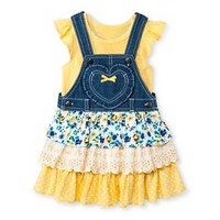Young Hearts Toddler Girls' 2 Piece Jumper Set - Yellow : Target