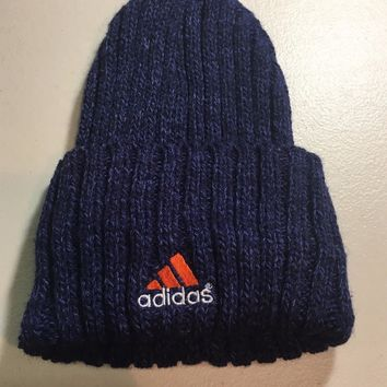 BRAND NEW ADIDAS WOMEN'S BLUE KNIT HAT SHIPPING