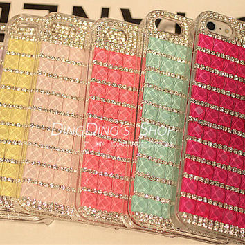 2014 Summer New Design Crystal Phone Case for iphone 4 4s, Bling phone case for iphone 5 5s