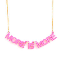 party banner necklace - more is more