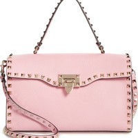 VALENTINO GARAVANI Small Rockstud Leather Single Handle Shoulder Bag | Nordstrom