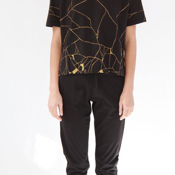 Kowtow Kintsugi Top Black