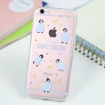 Cute Penguin Cover Case for iPhone 5s 5se 6 6s Plus Gift 318-170928
