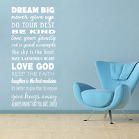WALL DECAL Life Rules Extra Large Subway Art