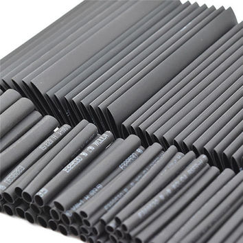 Brand New 127pc Black Heat Shrink Tube Assortment Wrap Electrical Insulation Cable Tubing Best Promotion