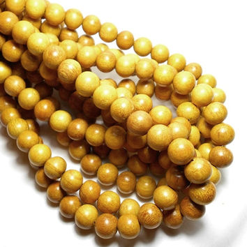 10mm Jackfruit Wood Beads, Round Wood Beads, Jackfruit Yellow Wood Beads, Macrame Beads, Wood Beads, Wooden Beads, Craft Beads D-N06