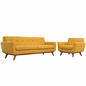 Engage Armchair and Sofa Set of 2, Citrus