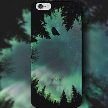 Green Light Forest iPhone 5s 6 6s Plus Case Cover