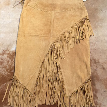 Scully 'L659' Suede Fringe Ladies Skirt