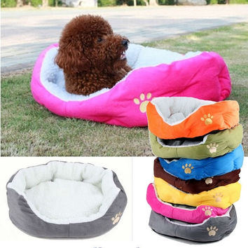 Winter Warm Removable Cotton Dog Bed Pet Products Waterproof Velvet Pet Nest Pet Mats = 1930071556