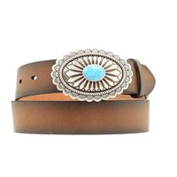 Women's Distinctive Oval with Turquoise Belt
