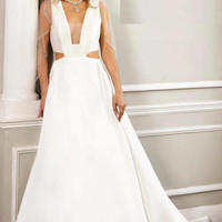 Cut Out Sleeveless Wedding Gown JB26202