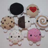 Cute Kawaii Cookies Plushy, Cell Phone Charm, Key Chain Charm