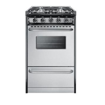 Summit Appliance 20 in. 2.5 cu. ft. Slide-In Gas Range in Stainless Steel-TNM11027BFRWY - The Home Depot