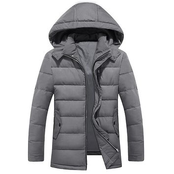 Plus Size 4XL 5XL 6XL 7XL 8XL 9XL Suit Weight 70-170kg Mens Winter Dress Jacket and Coat Hooded Collar Parkas Men 150