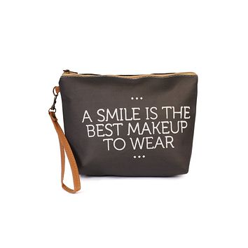 """A Smile"" Cosmetic Bag"